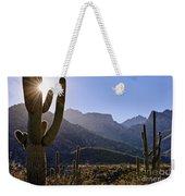 Saguaro Cacti And Catalina Mountains Weekender Tote Bag