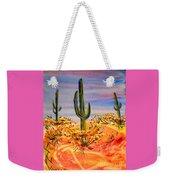 Saguaro Cactus Desert Landscape Weekender Tote Bag
