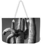 Saguaro Cactus Monochrome Weekender Tote Bag