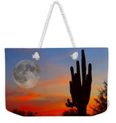 Saguaro Full Moon Sunset Weekender Tote Bag by James BO  Insogna