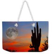 Saguaro Full Moon Sunset Weekender Tote Bag