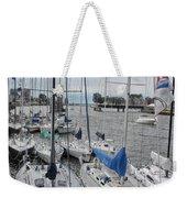 Sail Boats Docked For The Night Weekender Tote Bag