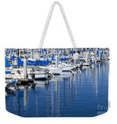 Sail Boats Docked In Marina Weekender Tote Bag