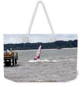Sailboarder At Hilton Head Island Beach Weekender Tote Bag