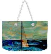 Sailboat And Abstract Weekender Tote Bag