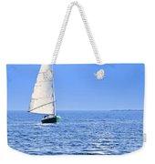 Sailboat At Full Moon Weekender Tote Bag by Elena Elisseeva