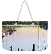 Sailboat At Sunrise Weekender Tote Bag by Elena Elisseeva
