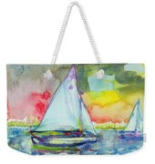Sailboat Evening Wc On Paper Weekender Tote Bag