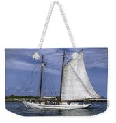 Sailboat In Cape May Channel Weekender Tote Bag