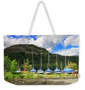 Sailboats At Glenridding In The Lake District Weekender Tote Bag