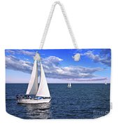 Sailboats At Sea Weekender Tote Bag