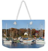 Sailboats In Camden Harbor I Weekender Tote Bag