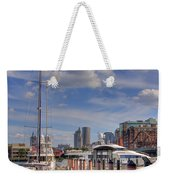Sailboats In Constitution Marina - Boston Weekender Tote Bag by Joann Vitali