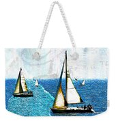 Sailboats In The Harbor Weekender Tote Bag