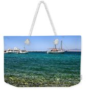 Sailboats On The Water Weekender Tote Bag