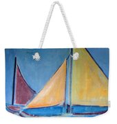 Sailboats With Red And Yellow Sails Weekender Tote Bag