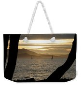 Sailing At Sunset On The Bay Weekender Tote Bag