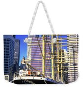Sailing Boat Anchored In South Street Seaport 1984 Weekender Tote Bag