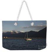 Sailing Boat On An Alpine Lake Weekender Tote Bag