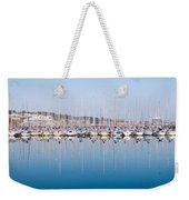 Sailing Boats In The Howth Marina Weekender Tote Bag