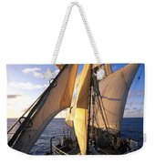 Sailing Boats Kruzenshtern Weekender Tote Bag by Anonymous