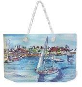 Sailing By Shoreline Village Weekender Tote Bag