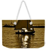 Sailing In Sepia Weekender Tote Bag