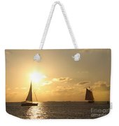 Sailing Into The Sunset Weekender Tote Bag
