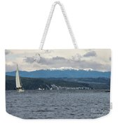 Sailing Lake Taupo Weekender Tote Bag