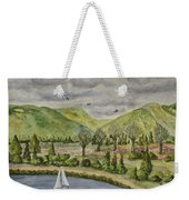 Sailing On A Cloudy Day Weekender Tote Bag