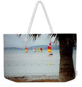 Sailing On A Cloudy Morning Weekender Tote Bag by Lainie Wrightson