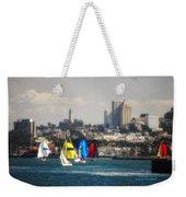 Sailing On The Bay Weekender Tote Bag