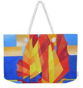 Sailing On The Seven Seas So Blue Weekender Tote Bag by Tracey Harrington-Simpson