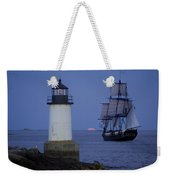 Sailing Out For The Red Moon Weekender Tote Bag