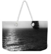 Sailing Out Of The Fog - Black And White Weekender Tote Bag by Jason Politte