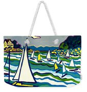 Sailing School Manchester By-the-sea Weekender Tote Bag