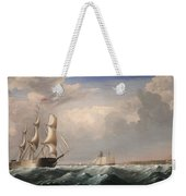 Sailing Ships Off The New England Coast Weekender Tote Bag