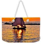 Sailing Silhouette Weekender Tote Bag