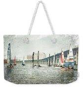 Sailing Sketch Photo Weekender Tote Bag