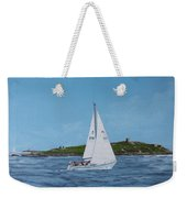 Sailing Through Dalkey Sound Weekender Tote Bag