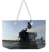Sailors Conduct Hose Team Training Weekender Tote Bag