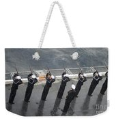 Sailors Fire A 21-gun Salute Weekender Tote Bag