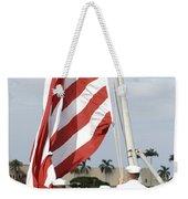 Sailors Hoist The American Flag Weekender Tote Bag