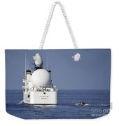 Sailors In A Rigid-hull Inflatable Weekender Tote Bag