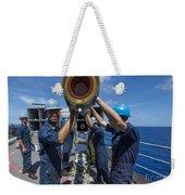 Sailors Load Rim-7 Sea Sparrow Missiles Weekender Tote Bag