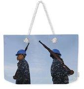 Sailors Practice A Routine Aboard Uss Weekender Tote Bag