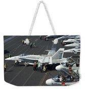 Sailors Push An Fa-18c Hornet Weekender Tote Bag