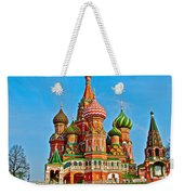 Saint Basil Cathedral In Red Square In Moscow- Russia Weekender Tote Bag