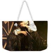 Saint Catherine Of Alexandria Weekender Tote Bag by Caravaggio