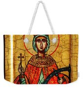 Saint Catherine Of Alexandria Icon Weekender Tote Bag
